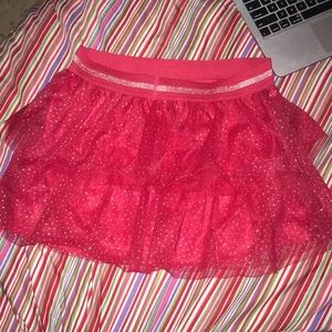 Faded Glory red sparkles skirt
